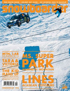 Snowboarder Magazine Cover Dec. 2007