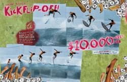 volcom kick flip surfboard