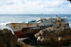 padang padang shipwreck