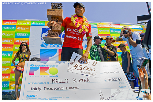 Kelly Slater Boost Mobile Pro at Trestles Victory
