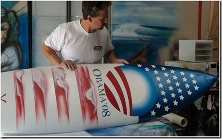 barack obama surfboard