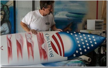 barack obama surfboard