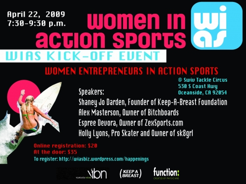women in action sports
